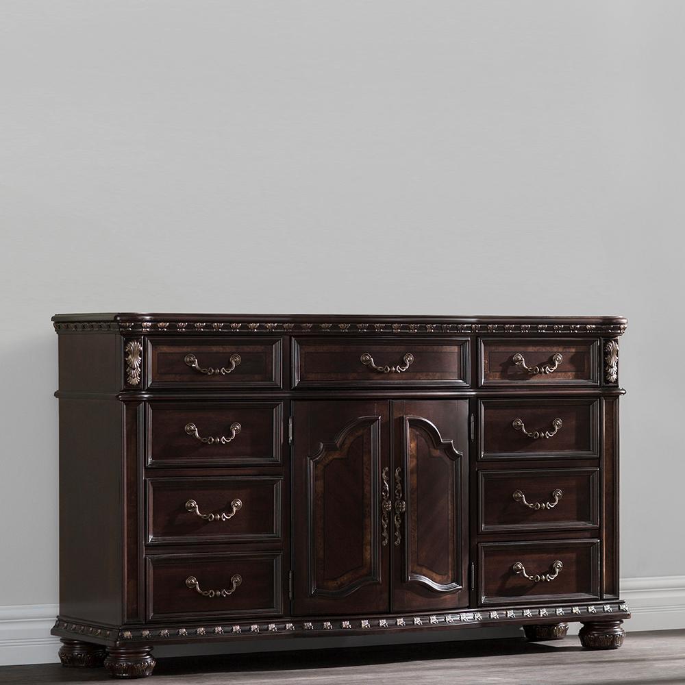 Monte Carlo 9-Drawer Rich Brown Dresser