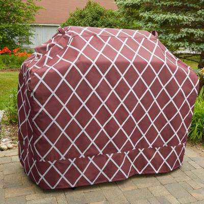 Lattice Red Premium Gas Heavy Duty Waterproof BBQ Grill Covers