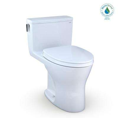 UltraMax 1-Piece 0.8/1.28 GPF Dual Flush Elongated Dynamax Tornado Flush Toilet in Cotton White, Seat Included