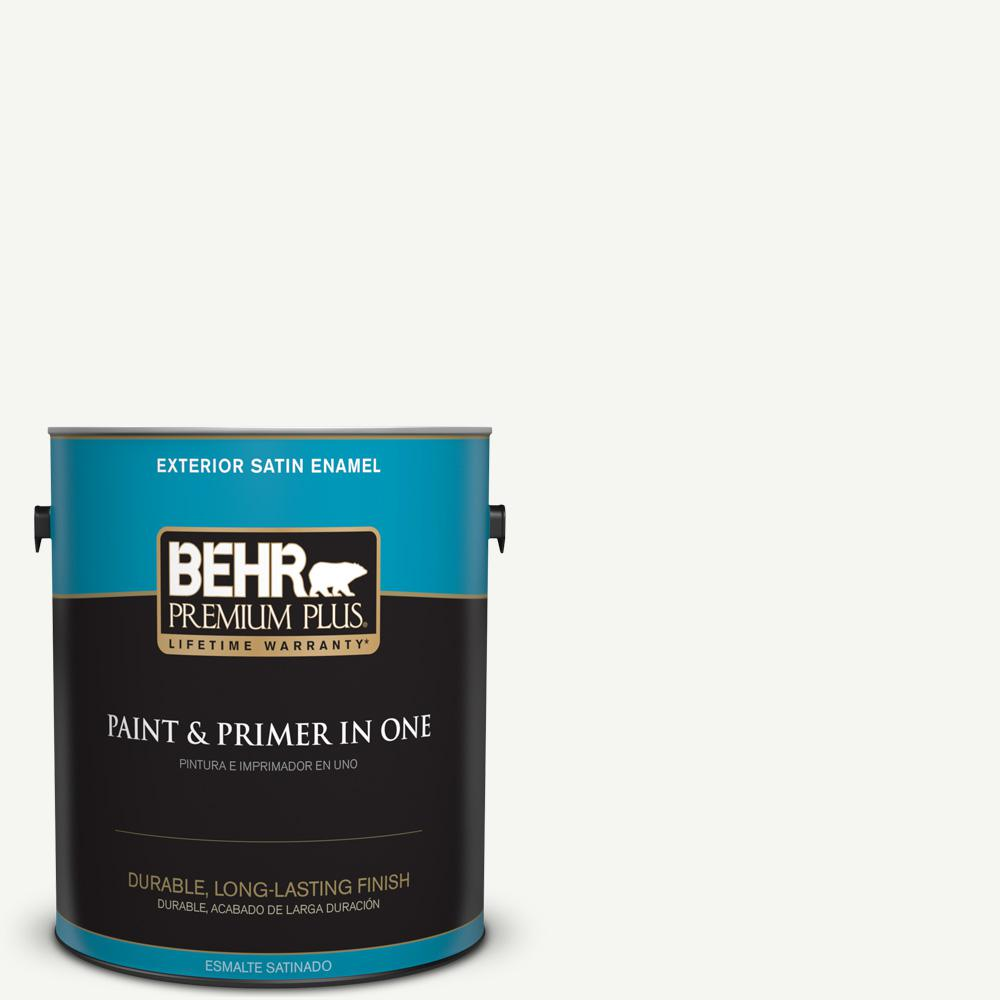 1 gal. #HDC-CT-18G Cotton Ball Satin Enamel Exterior Paint