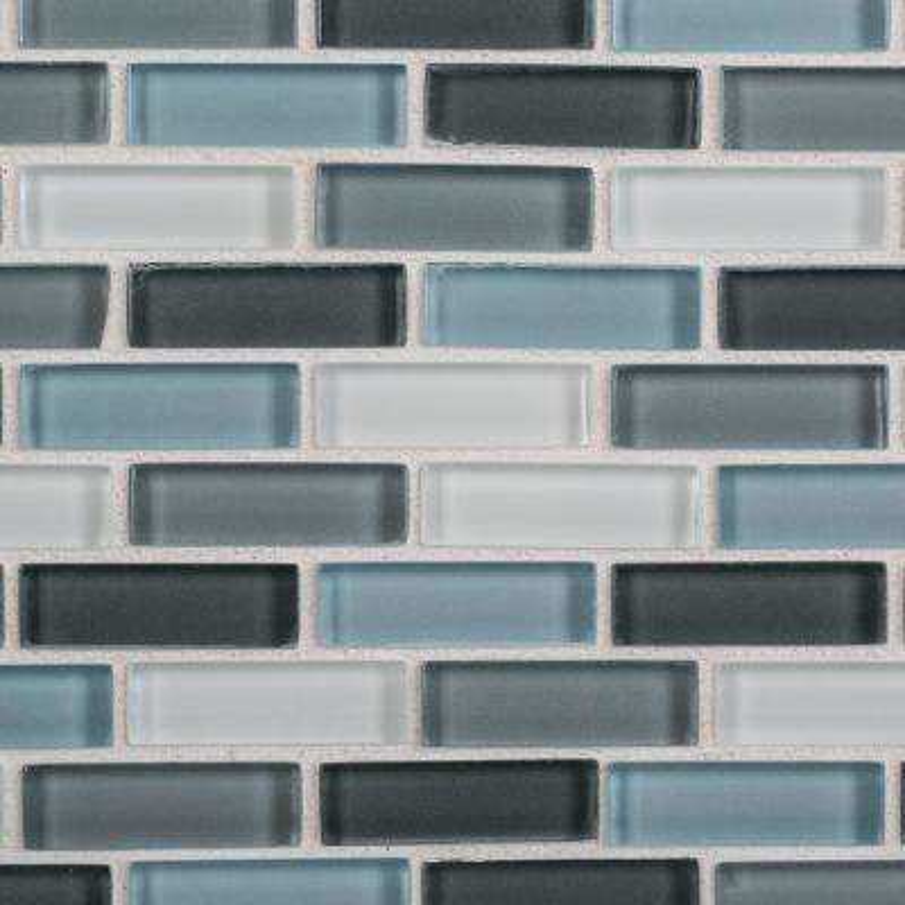Malibu Breeze 9.75 in. x 11.875 in. x 8 mm Interlocking Glossy Glass Mosaic Tile