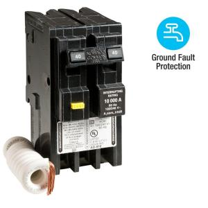 Square D Homeline 40 Amp 2-Pole GFCI Circuit Breaker by Square D
