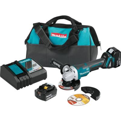 18- -Volt 5.0Ah LXT Lithium-Ion Brushless Cordless 4-1/2 in. /5 in. Paddle Switch Cut-Off/Angle Grinder Kit