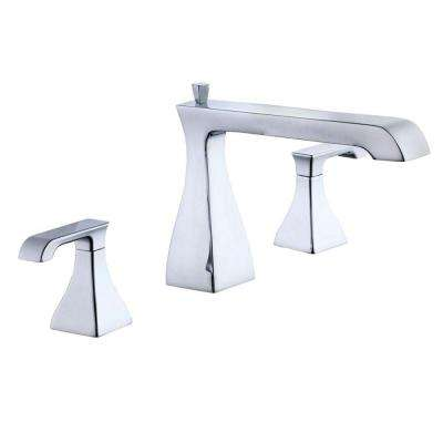 Adelyn 2-Handle Deck-Mount Roman Tub Faucet in Chrome