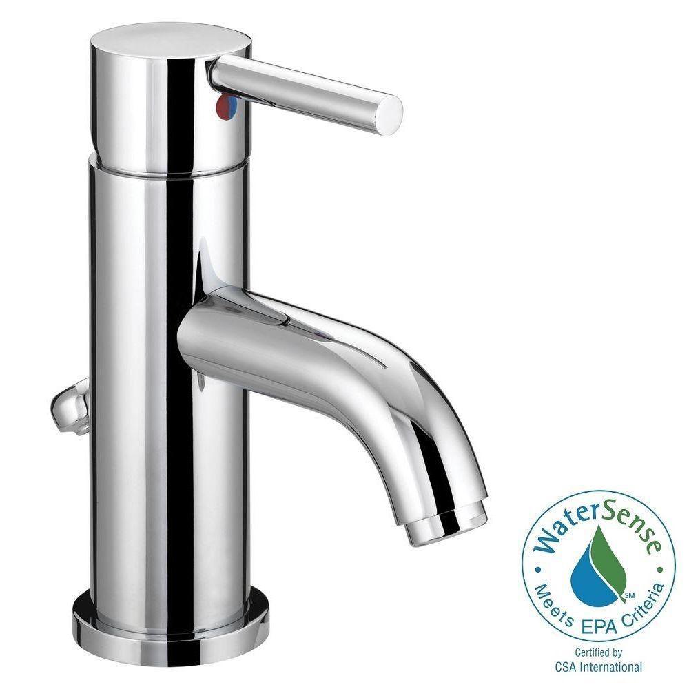 Metro Collection Single Hole 1-Handle European Flair Bathroom Faucet in Chrome