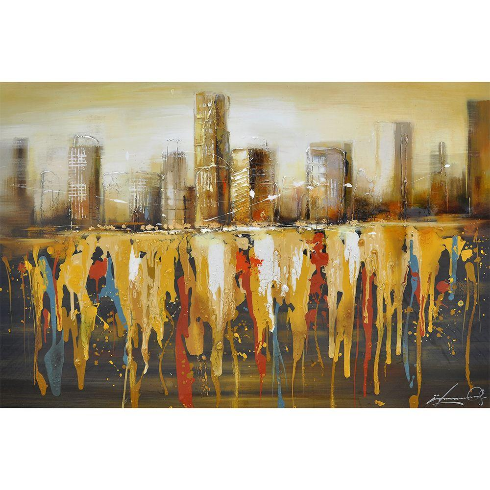 Yosemite Home Decor 48 in. x 32 in. Golden Gate I Hand Painted Contemporary Artwork-DISCONTINUED