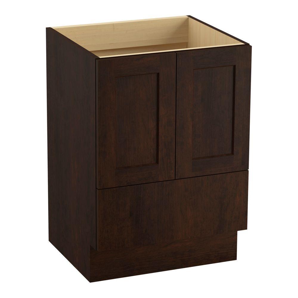 Poplin 24 in. Vanity Cabinet Only in Claret Suede
