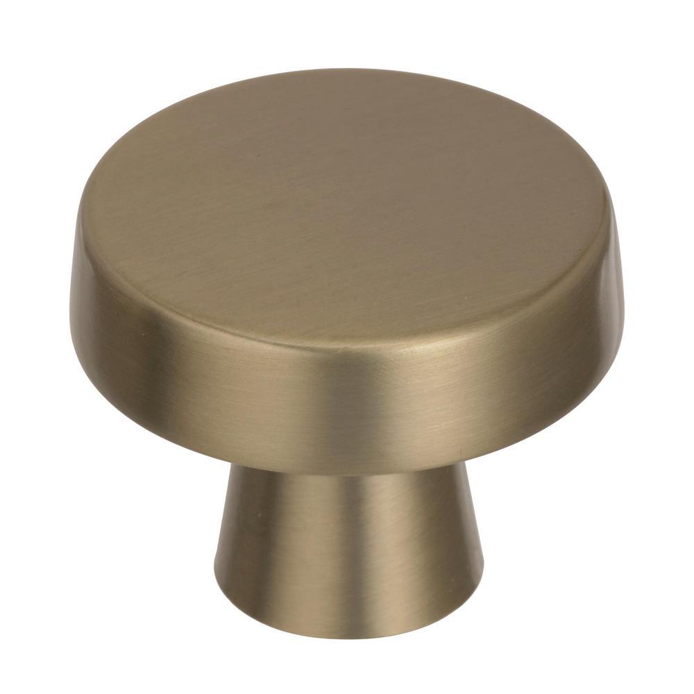 Amerock Blackrock 1-5/8 in. Dia (44 mm) Golden Champagne Cabinet Knob