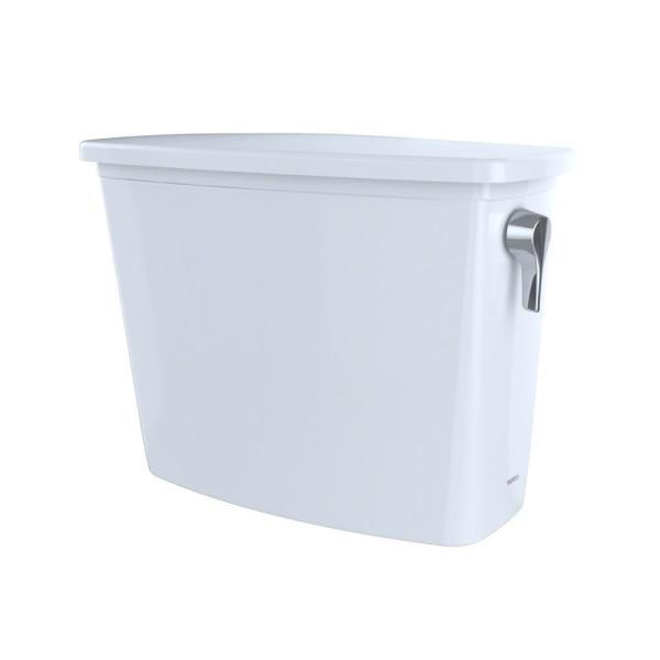 Toto ST744ER#01 Drake Toilet Tank Only for Two-Piece Toilets with Right Hand Trip Lever Location, Cotton