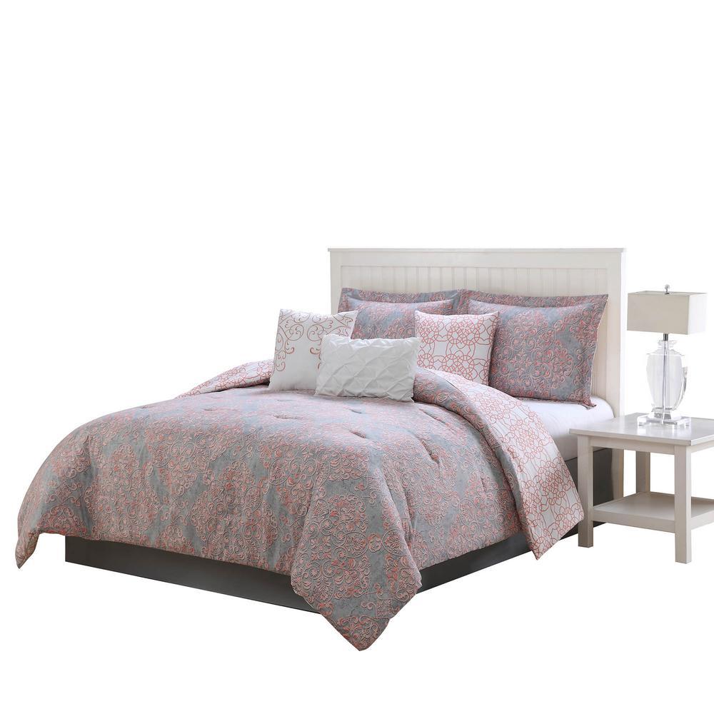 Magic Reversible 7-Piece King Comforter Set by