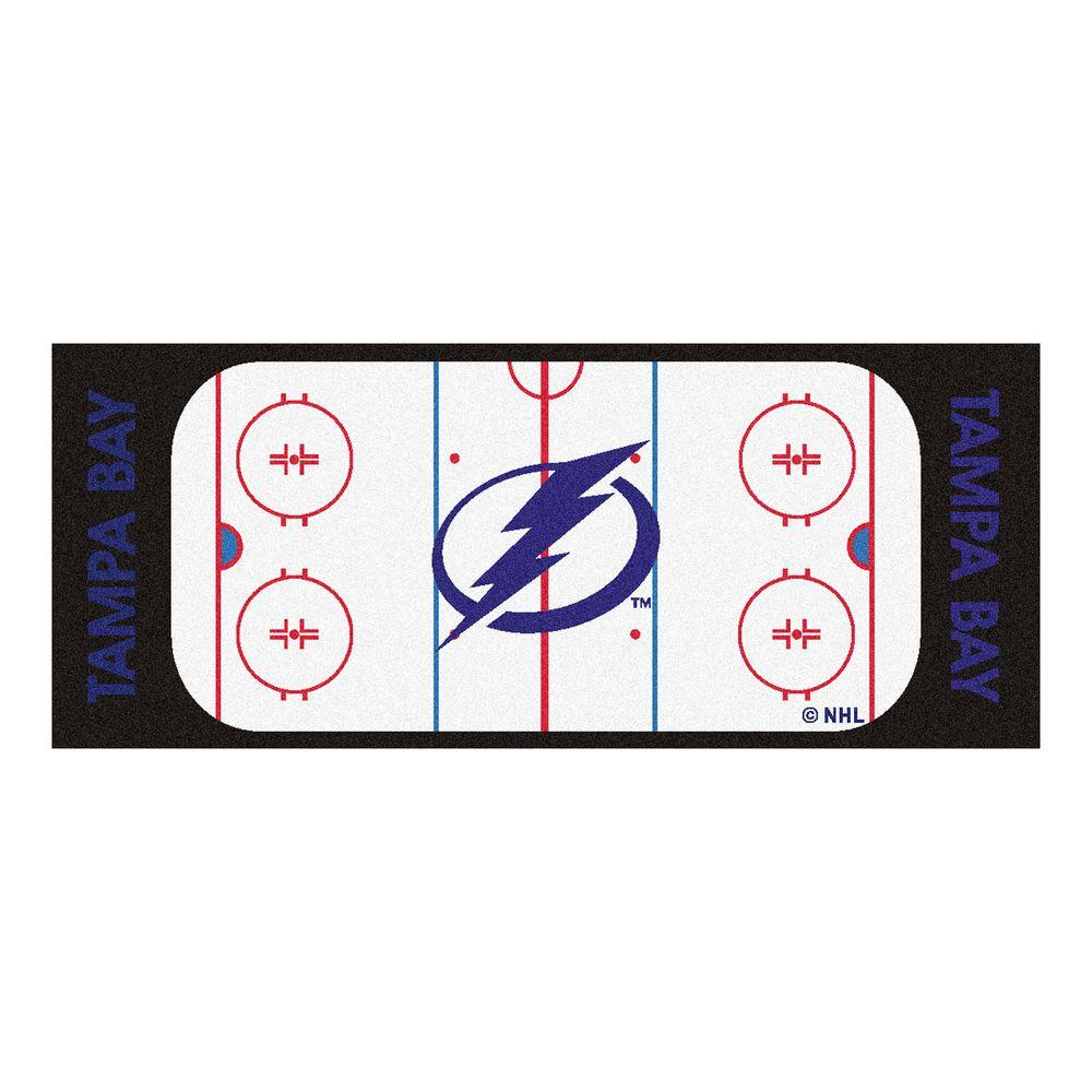 Fanmats Tampa Bay Lightning 2 Ft 6 In X 6 Ft Rink Rug