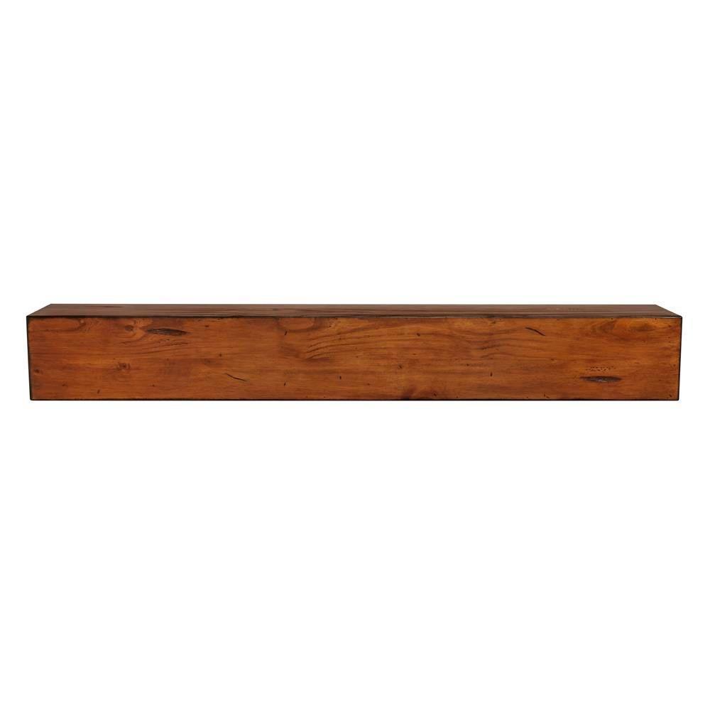 the lexington 6 ft medium rustic distressed cap shelf mantel 496