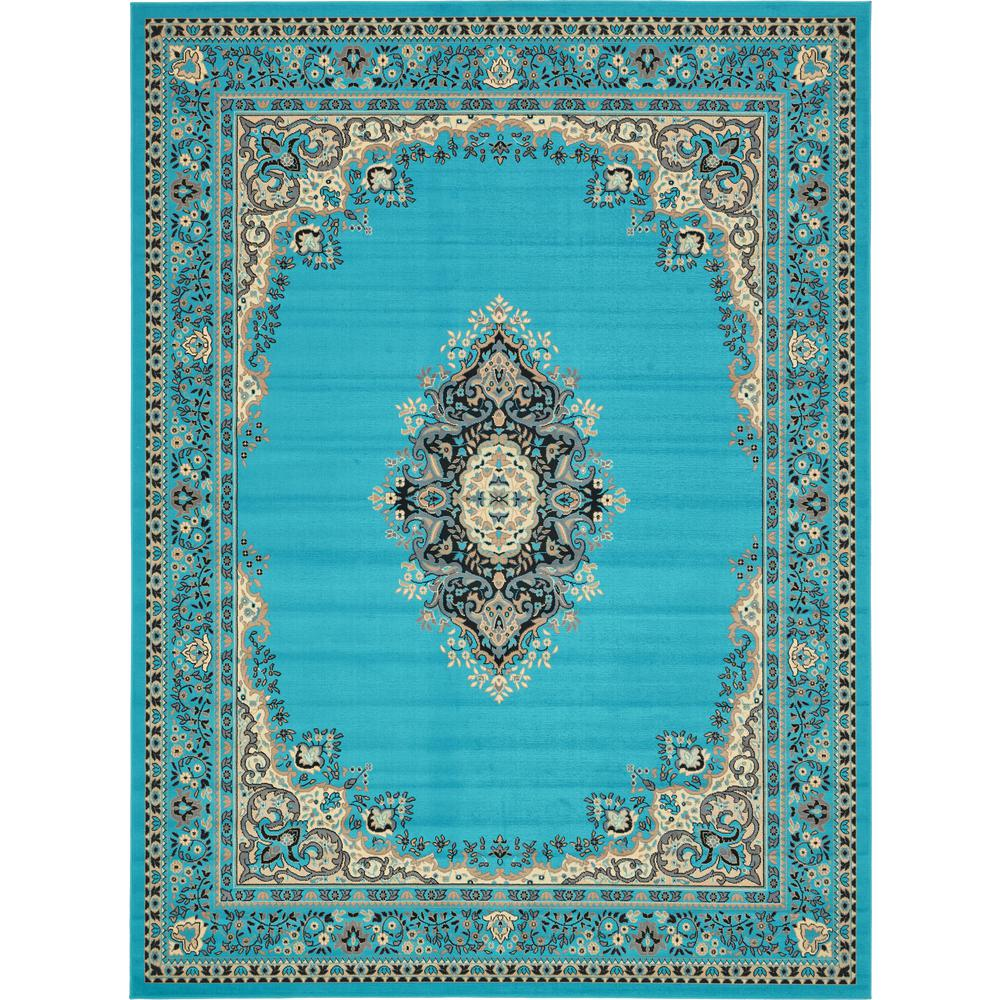 Unique Loom Reza Washington Turquoise 9 10 X 13 0 Area