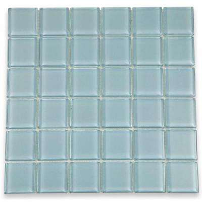 Contempo Blue Gray 12 in. x 12 in. x 8 mm Polished Glass Floor and Wall Tile