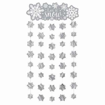 77 in. x 39 in. Snowflake Doorway Curtain (2-Pack)