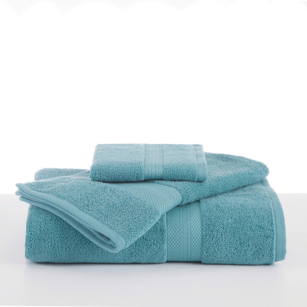 Abundance Cotton Blend  Bath Towel in Soft Aqua