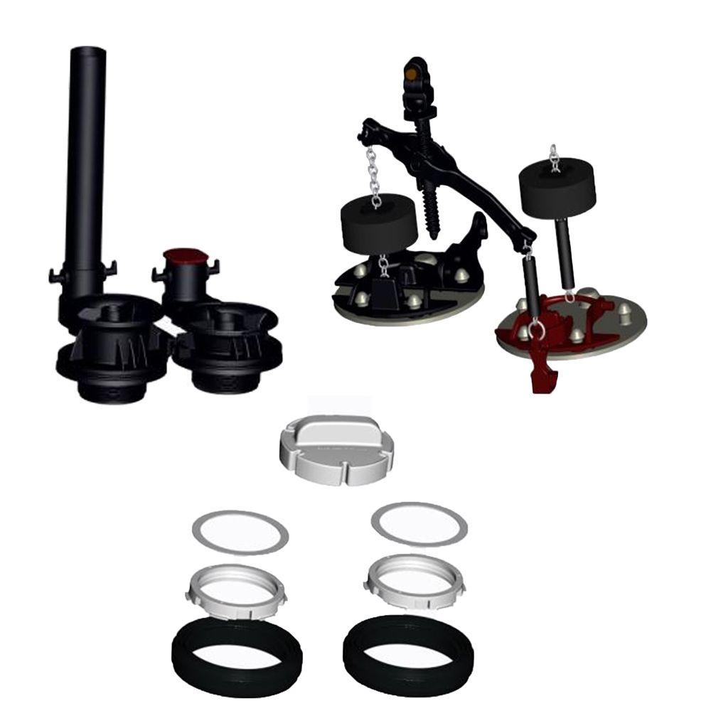 American Standard VorMax Flush Valve Assembly with Flappers Teeter ...