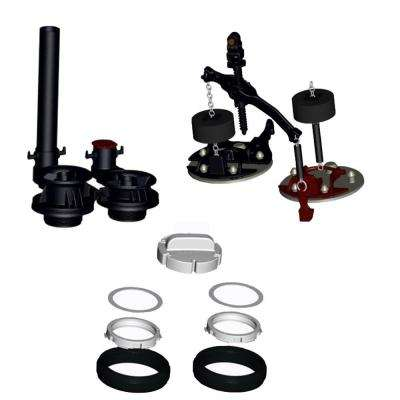 VorMax Flush Valve Assembly with Flappers Teeter Bar and Gaskets