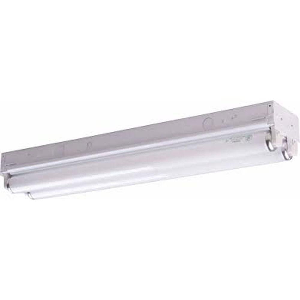 Filament Design Lenor 2-Light White Fluorescent Bath Vanity