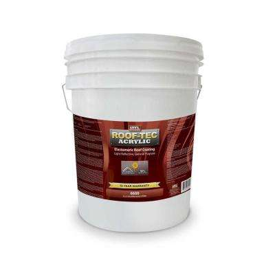 1 Gal. Acrylic White Elastomeric Reflective Roof Coating