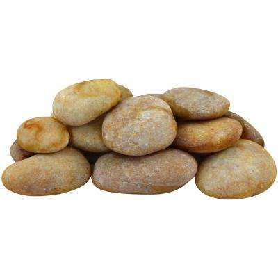 0.25 cu. ft. 2 in. to 3 in. 20 lbs. Large Golden Sapphire Pebbles