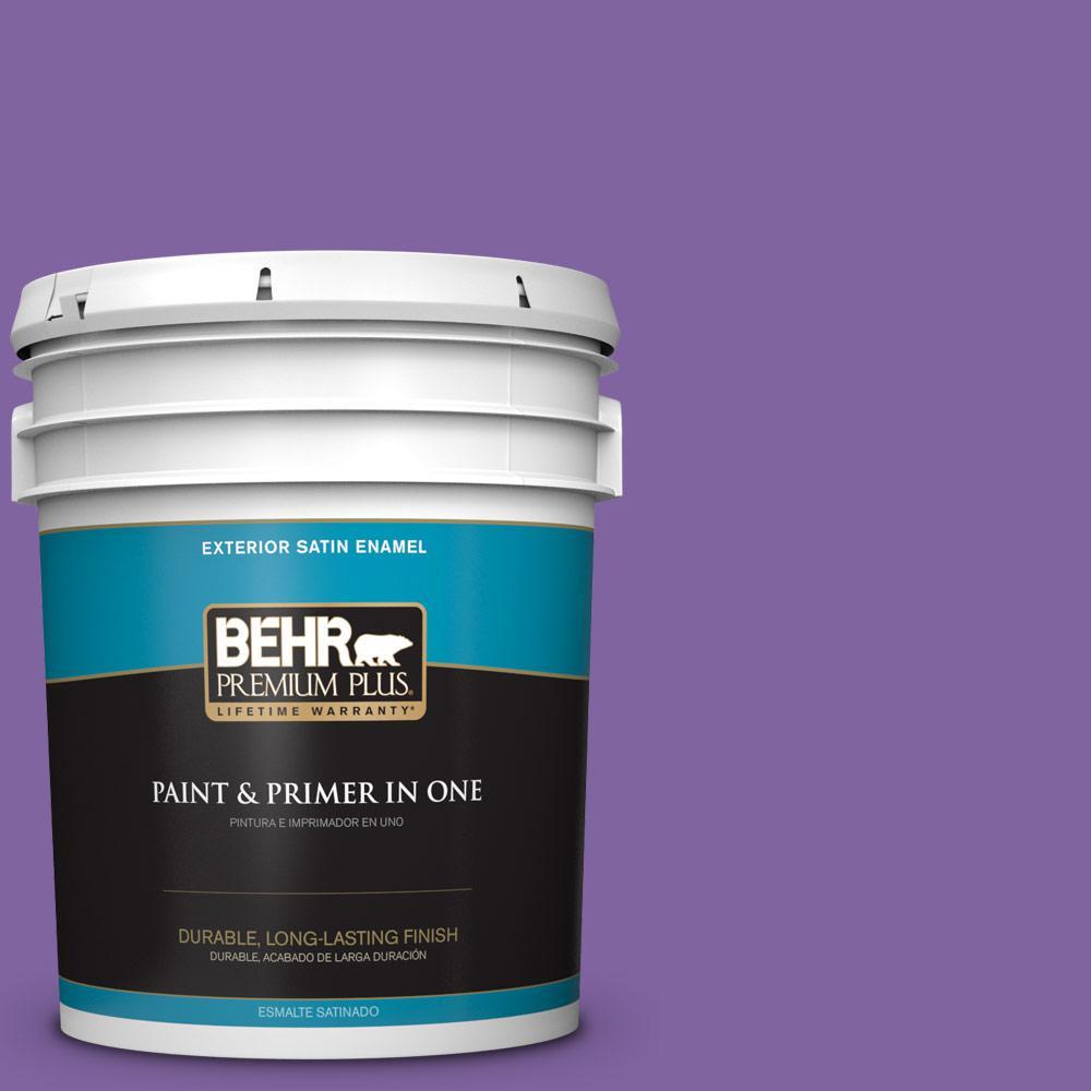5 gal. #PPU16-03 Purple Paradise Satin Enamel Exterior Paint