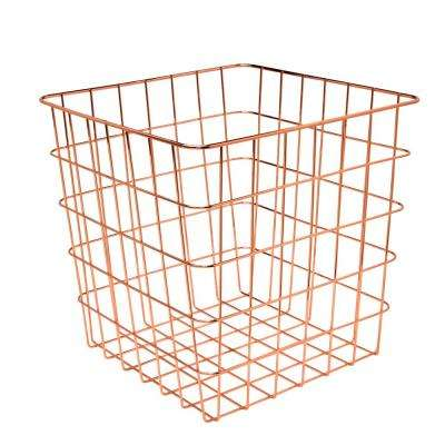 12.99 in. L x 12.99 in. W x 12.99 in. H Copper Wire Basket