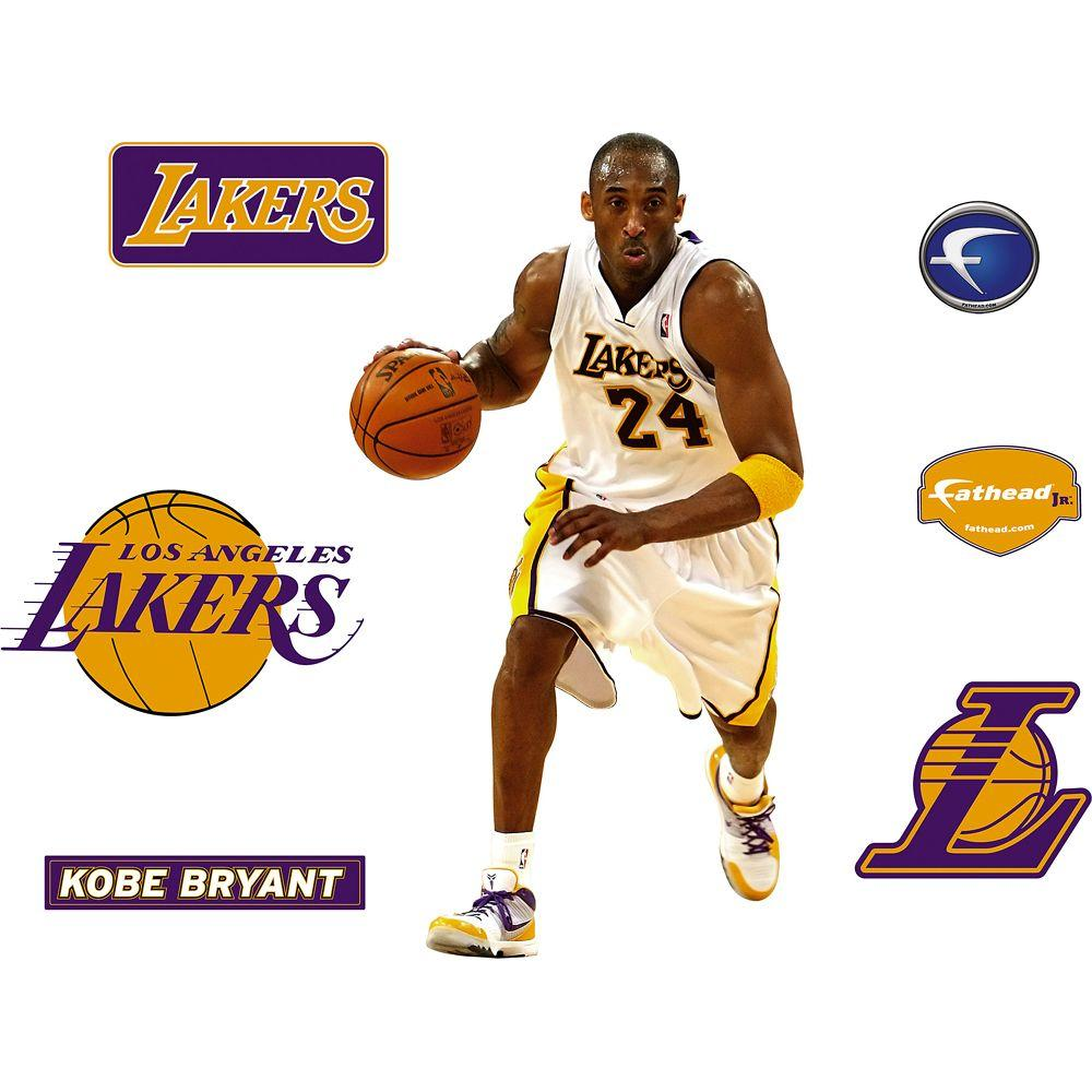 Fathead 18 in. x 32 in. Kobe Bryant Los Angeles Lakers Logo Wall Decal