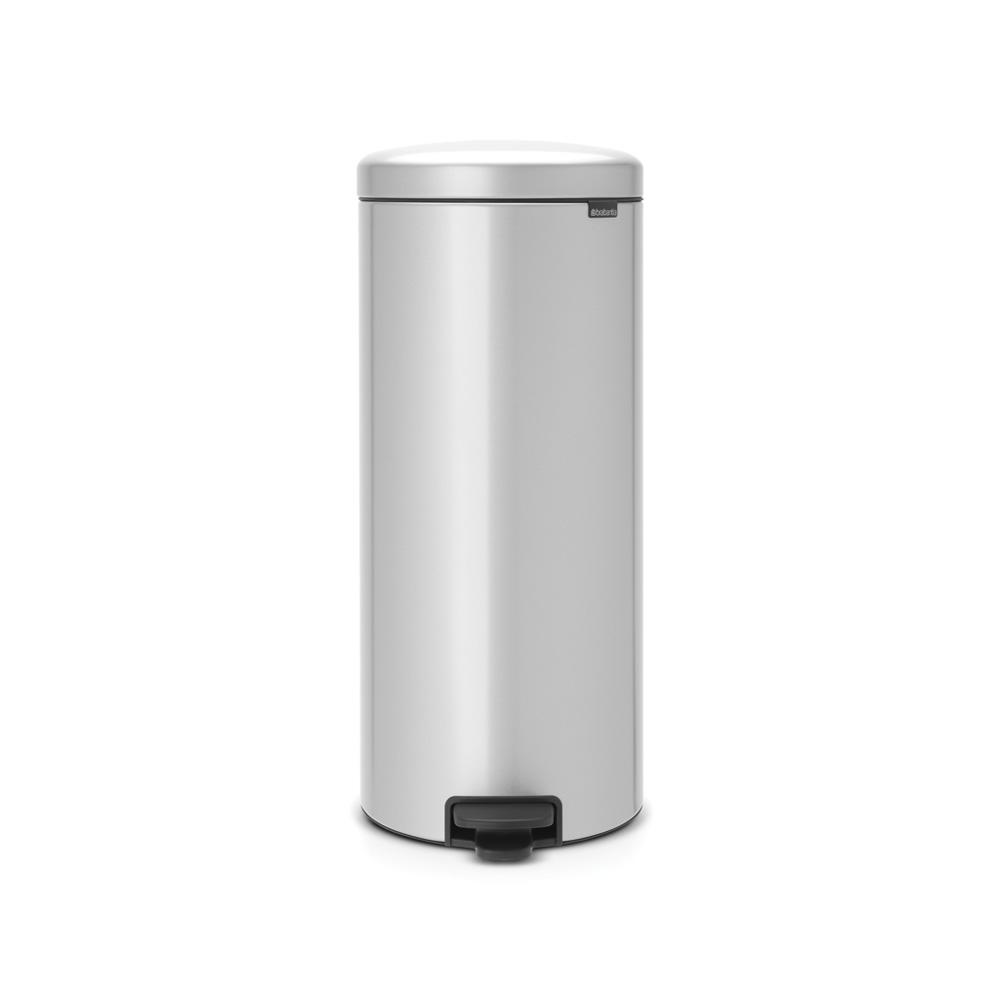 8 Gal. Metallic Gray Steel Step-On Trash Can