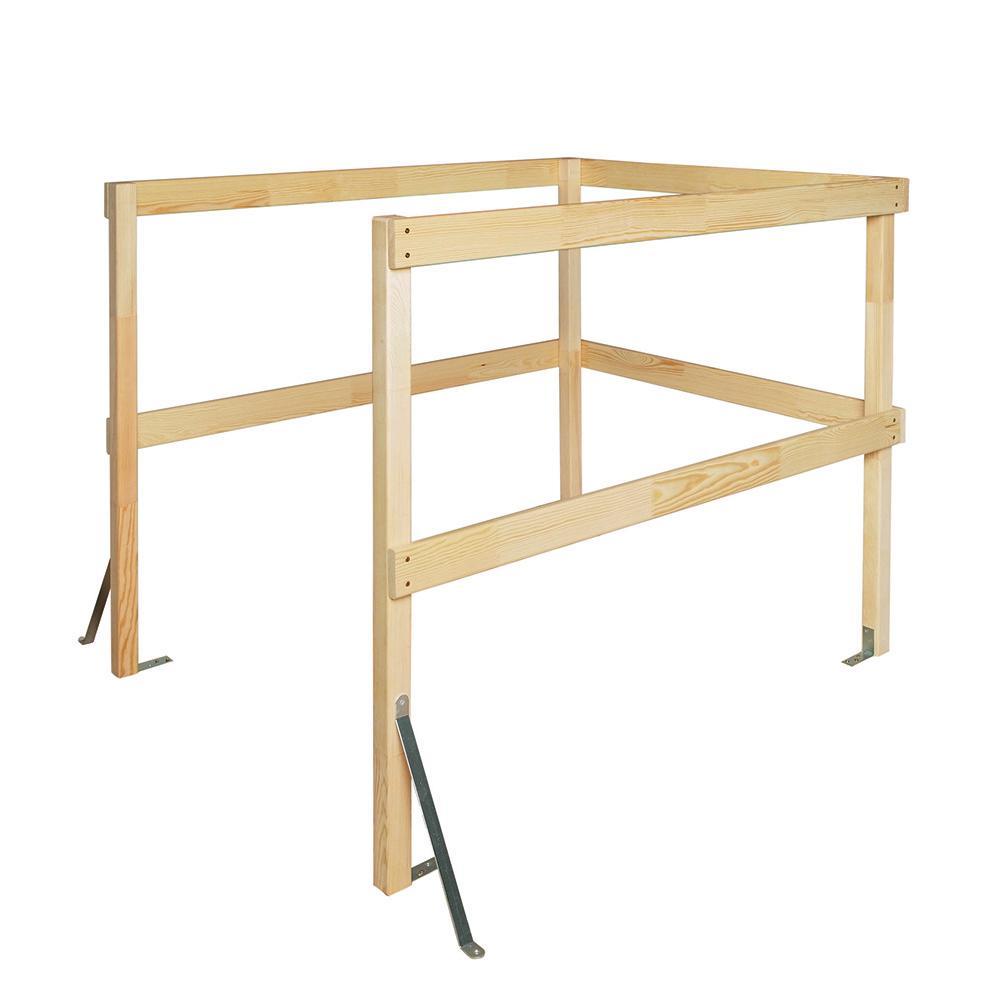 LXB-U Wooden Universal Balustrade Railing for Attic Ladder