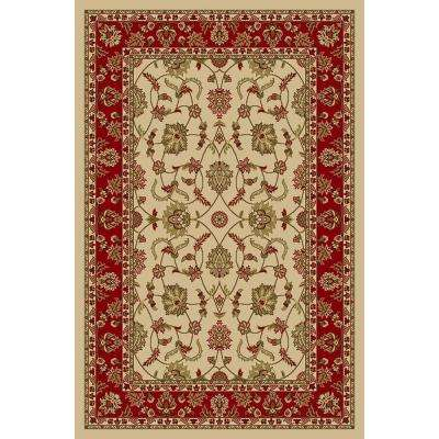 Hamam Collection Ivory 1 ft. 6 in. x 2 ft. 7 in. Rubber Back Area Rug