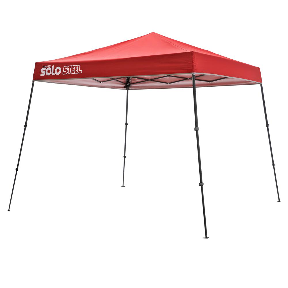 9 ft. x 9 ft. Deep Red Slant Leg Pop-Up Instant