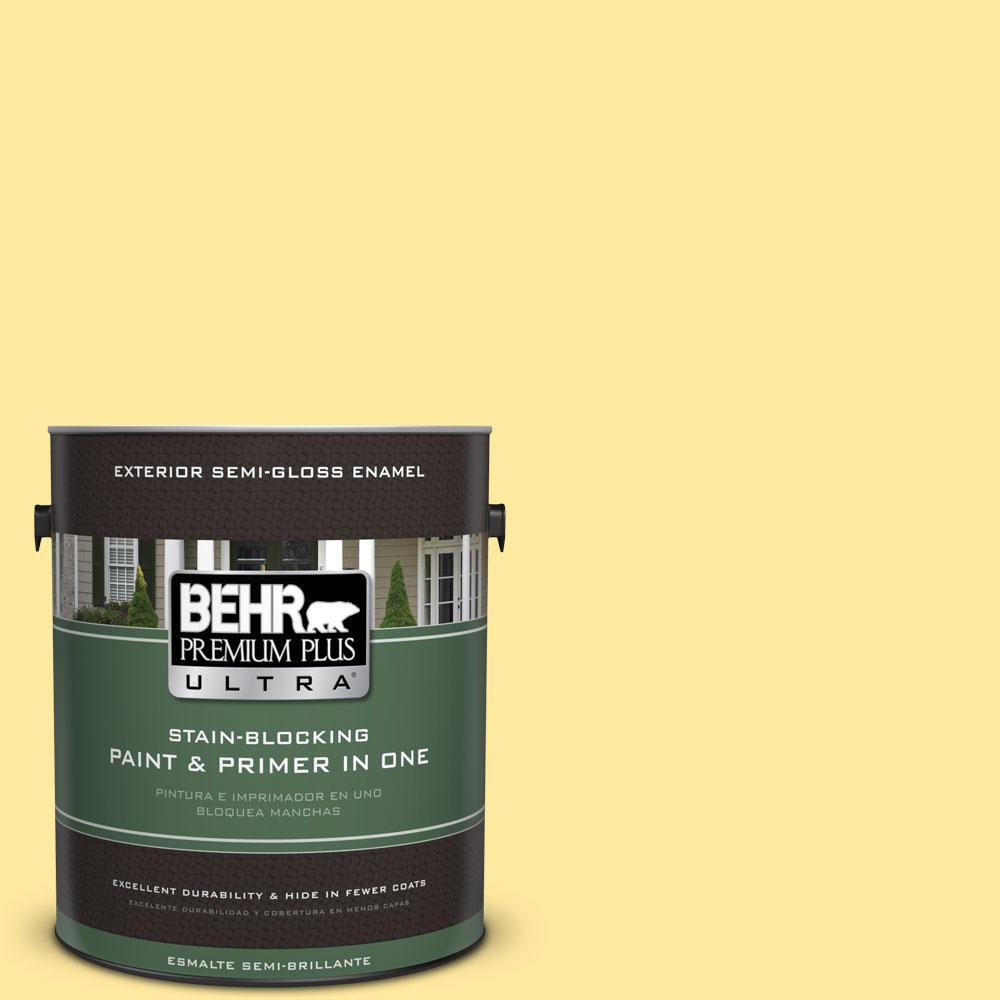 BEHR Premium Plus Ultra 1-gal. #P300-4 Rise and Shine Semi-Gloss Enamel Exterior Paint