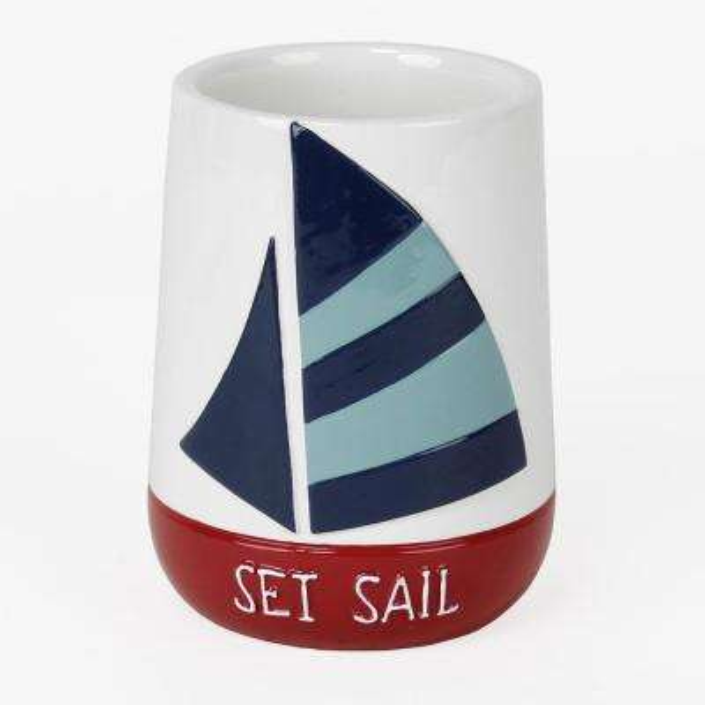 Set Sail Free-Standing Tumbler in Blue