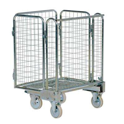26.3 in. x 35.6 in. Galvanized Nestable Roller Container