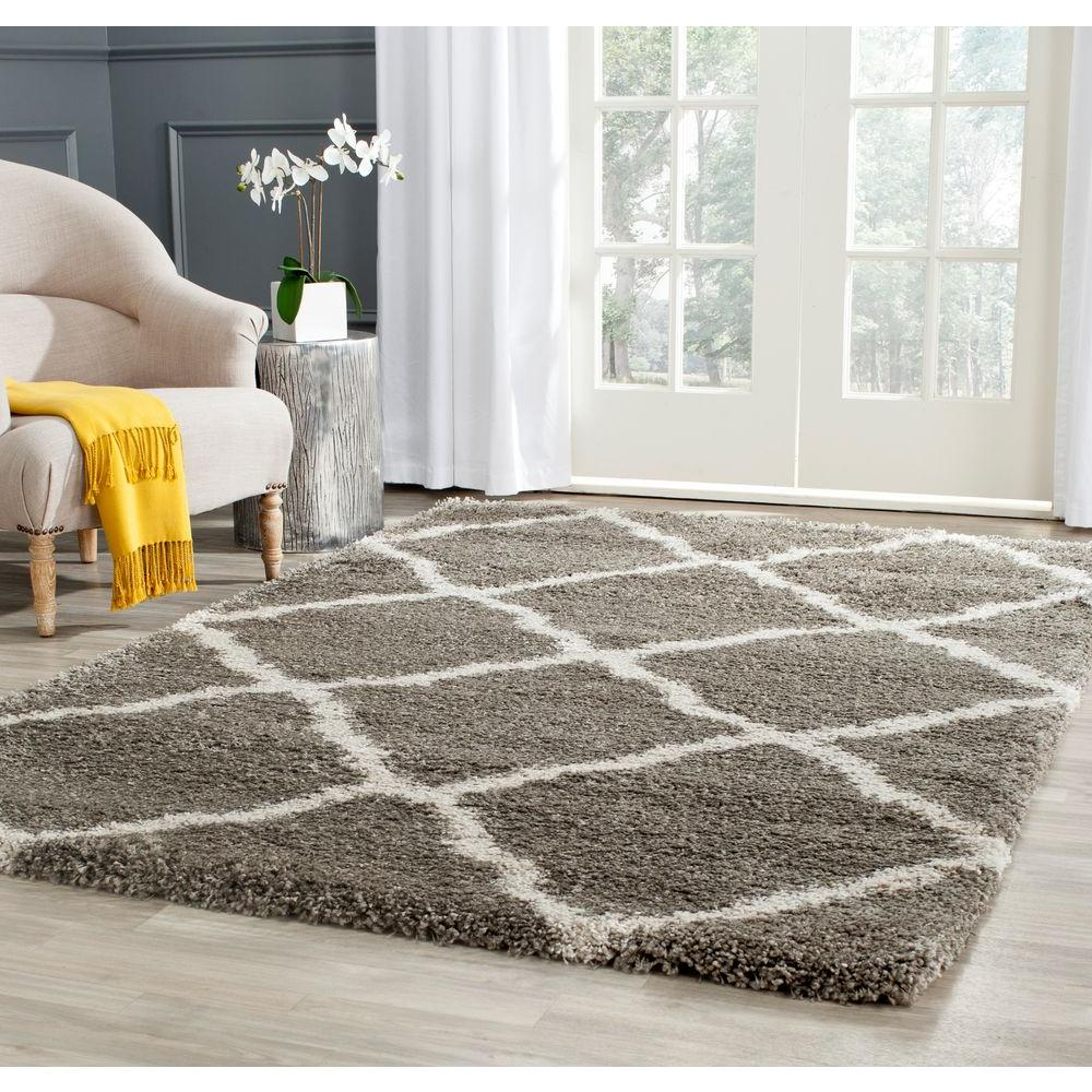 Attractive Safavieh Belize Shag Gray/Taupe 8 Ft. X 10 Ft. Area Rug