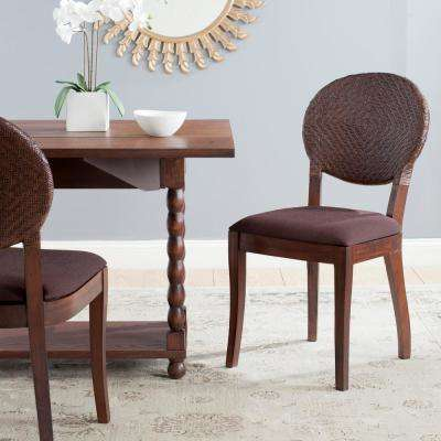 Prisco Brown Mahogany Side Chair (Set of 2)