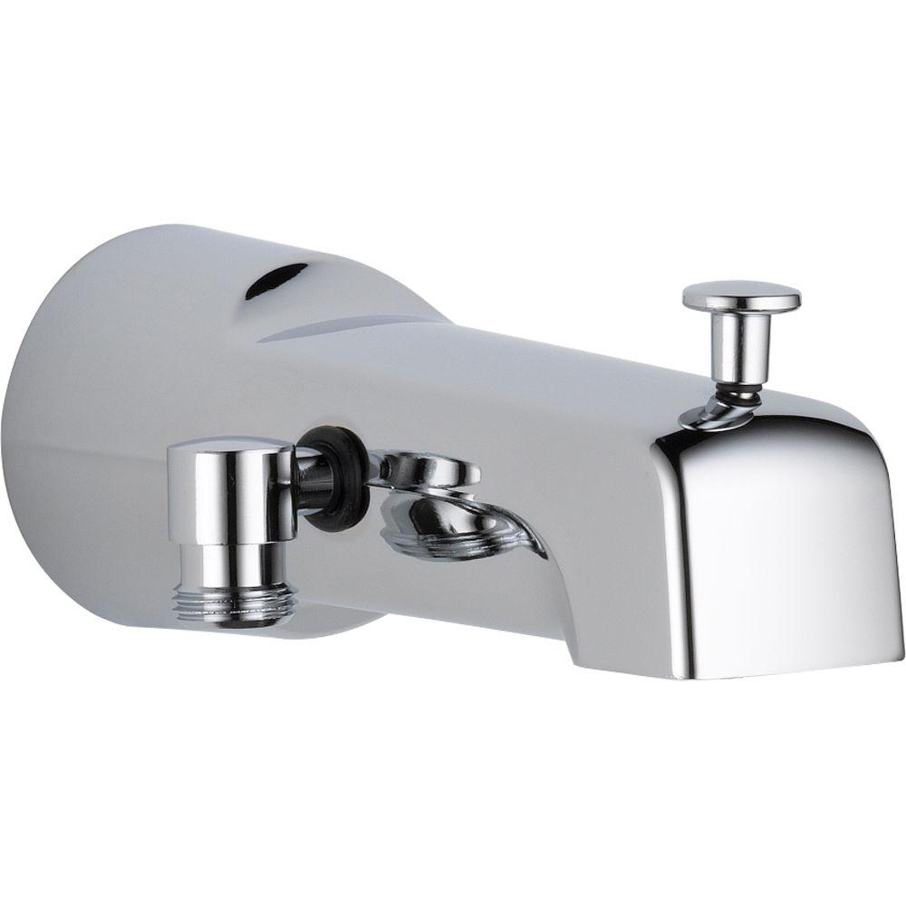 Delta 65 In Long Pull Up Diverter Tub Spout In Chrome U1010 Pk