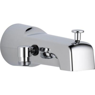 6.5 in. Long Pull-Up Diverter Tub Spout in Chrome