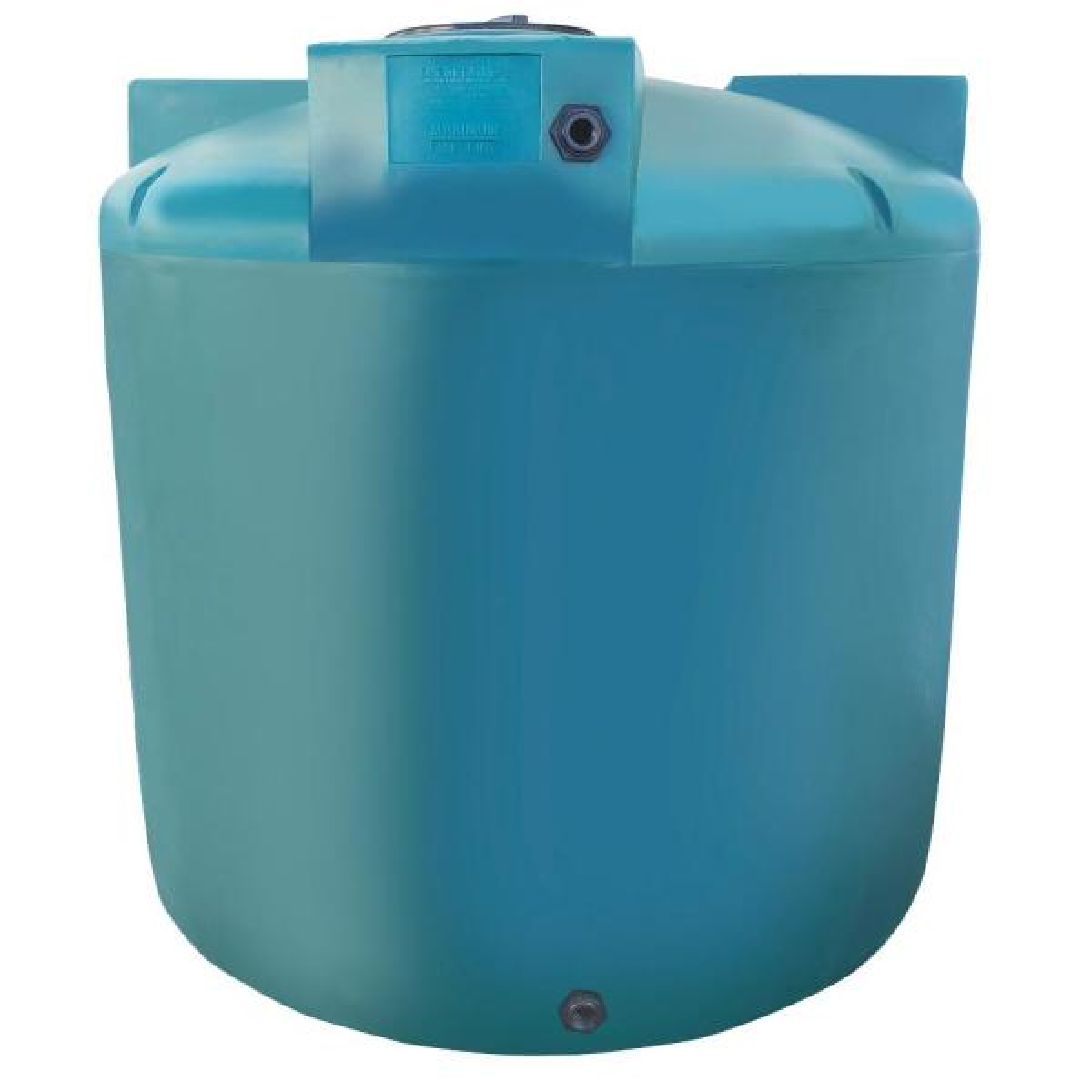 1500 Gal. Green Vertical Water Storage Tank