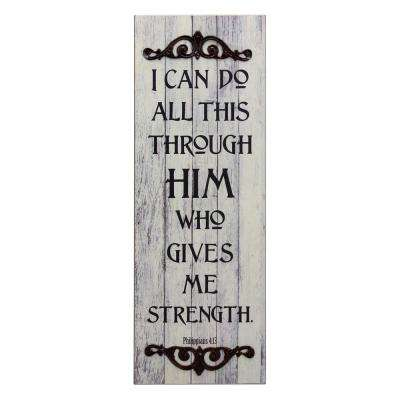23 in. x 8 in. Wooden Wall Art