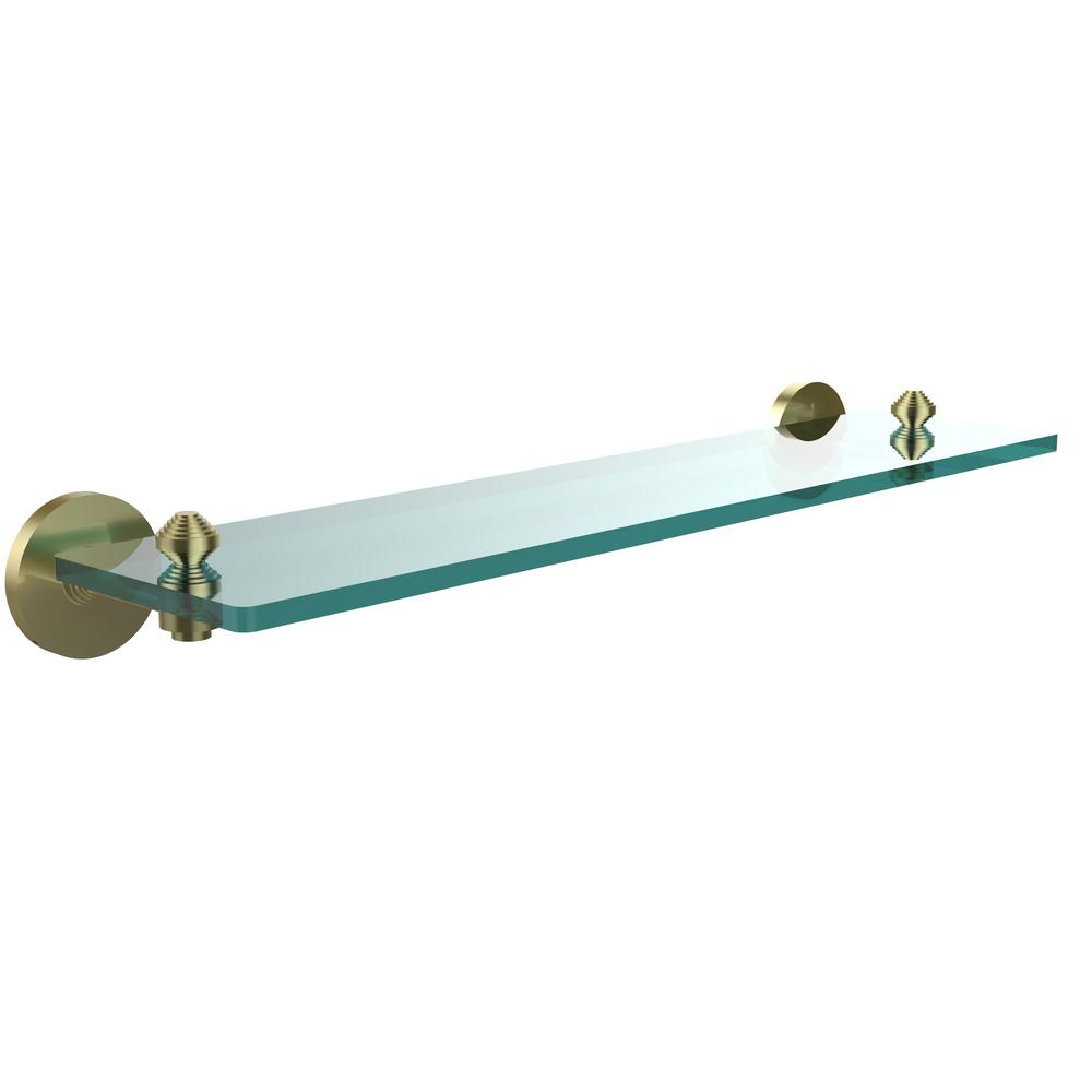 Allied Brass South Beach Collection 22 in. Glass Vanity Shelf with ...