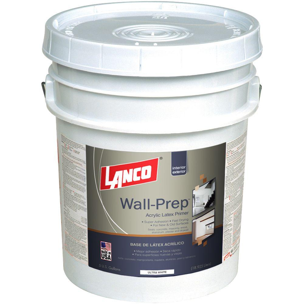 Wall-Prep 5 gal. Acrylic Latex Ultra White Interior/Exterior Primer