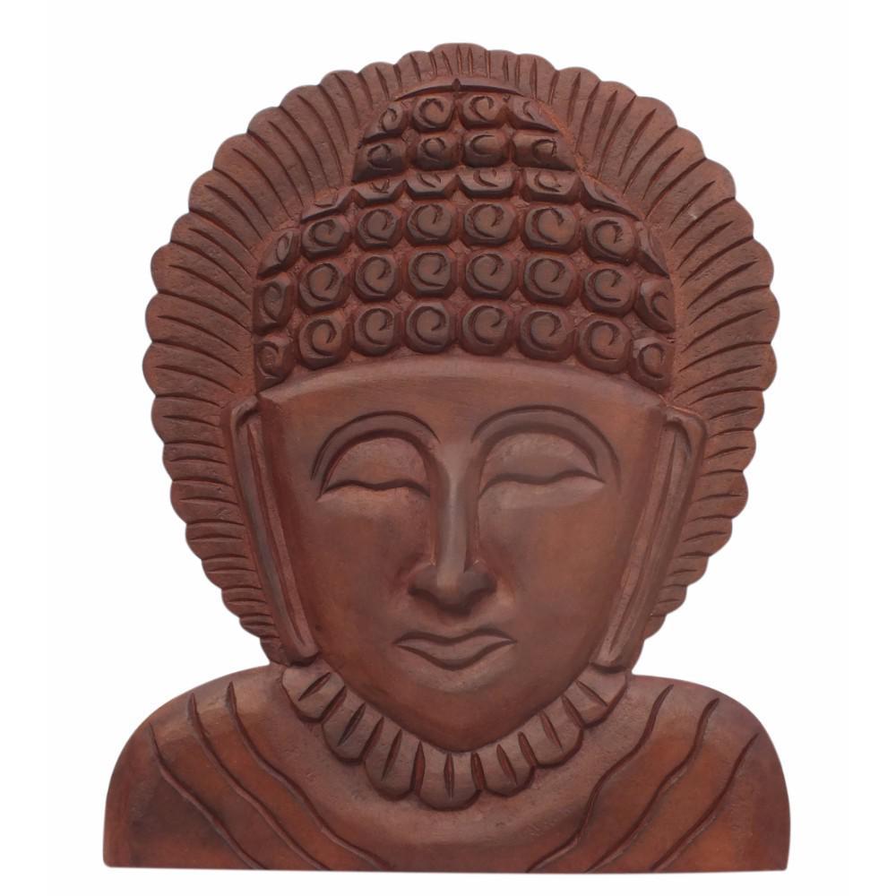367b487fc The Urban Port Brown Buddha Wooden Wall Hanging Art Decor UPT-148947 ...