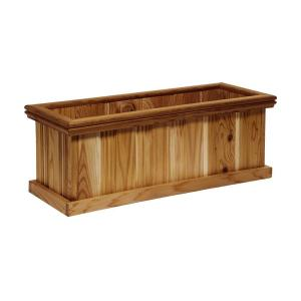 Grande 30 inch x 11 inch Cedar Planter by