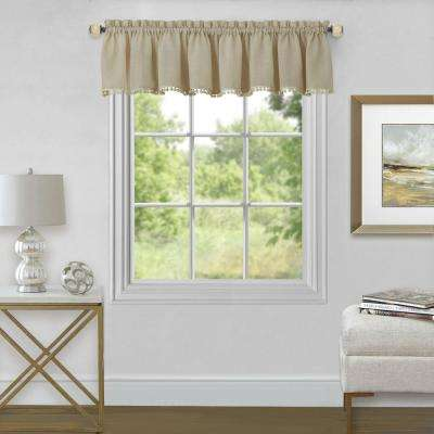Wallace 14 in. L Polyester Valance in Linen