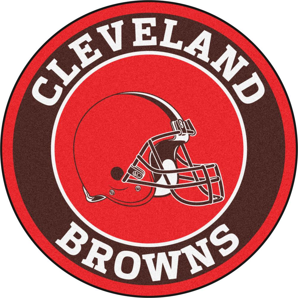 FANMATS NFL Cleveland Browns Brown 2 ft. Round Area Rug