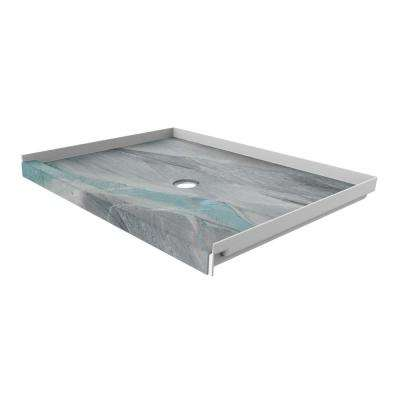 48 in. x 34 in. Single Threshold Shower Base with Center Drain in Triton