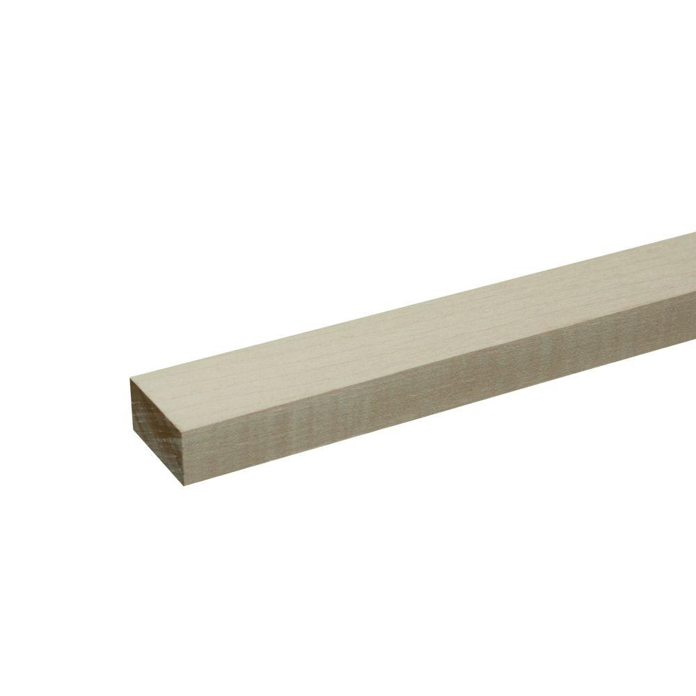 Builders Choice 1 in. x 2 in. x 8 ft. S4S Maple Board