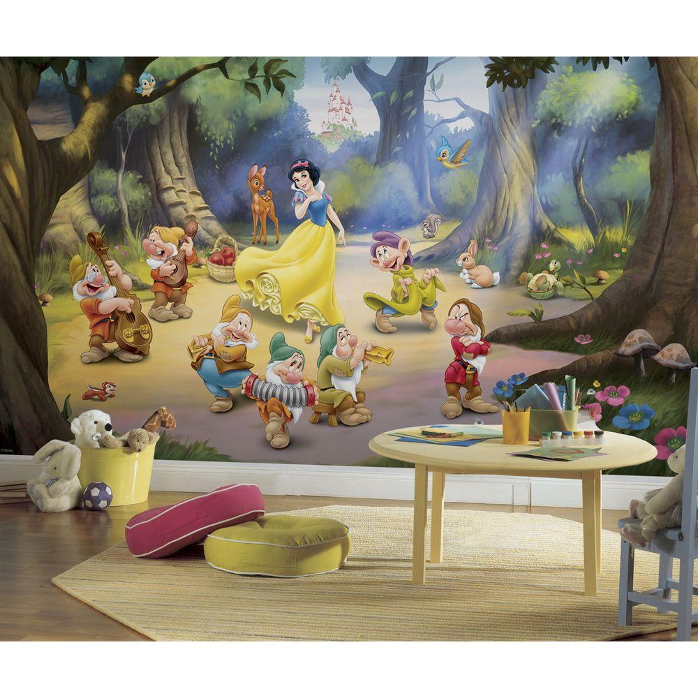 RoomMates 72 in. x 126 in. Snow White and the Seven Dwarfs Ultra ...